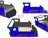 Full size steam engine bed frame