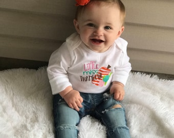 Little Miss Thankful Bodysuit // Little Miss Thankful // 1st Thanksgiving // Baby's First Thanksgiving // Girl's Thanksgiving Shirt