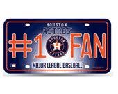Houston Astros MLB #1 Fan Metal License Plate