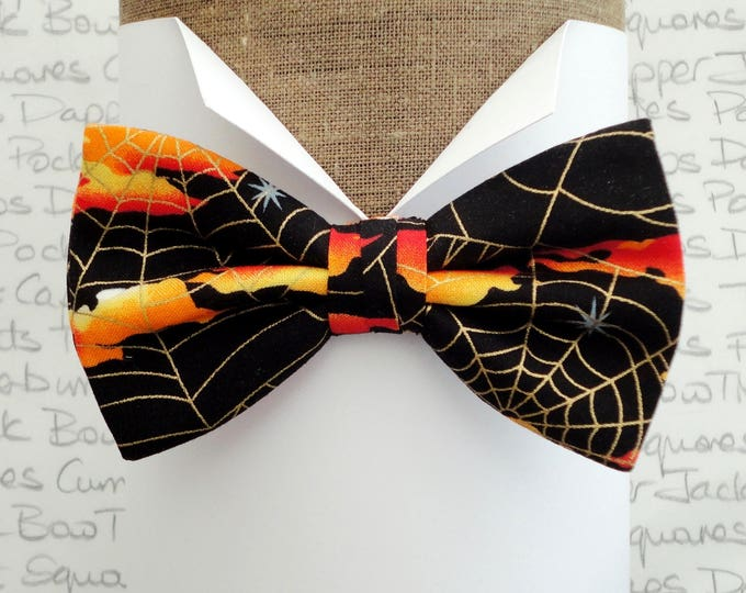 Featured listing image: Bow ties for men, Halloween bow tie, pre tied or self tie bow tie, bow ties uk