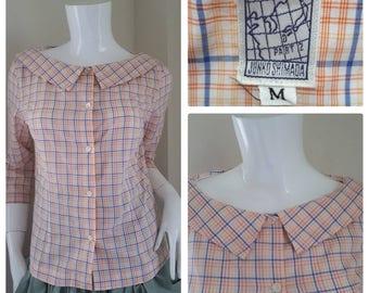 Vintage Junko Shimada Cotton blouse Size Medium