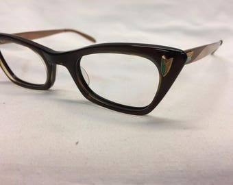Vintage New Old Stock Cat Eye Eyeglasses B&L Bausch and Lomb Never Sold, Never Worn K4