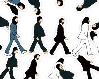The Beatles Abbey Road Cartoon Stickers