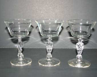 Libbey Liberty Bell crystal wine glasses