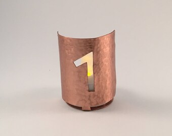 Leguz (L) copper tea light holder