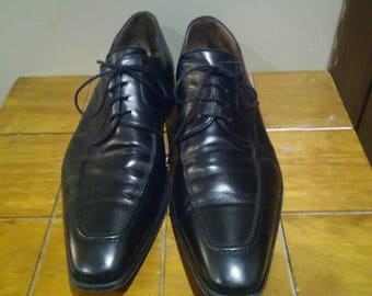 Magnanni Black  Leather Oxfords,  SZ 13M, Made in Italy