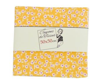 "100% cotton fabric coupon ""Imelda Orange"" 50cm X 50 cm"