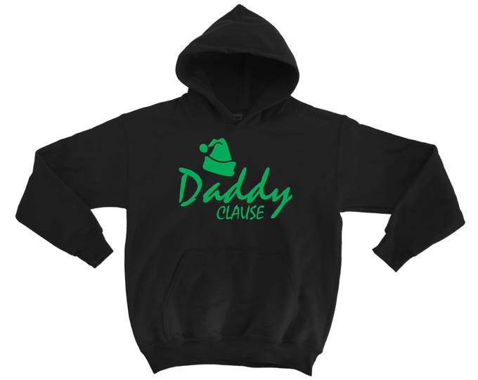 Daddy Clause Santa Clause Sweatshirt. Xmas Gift for Dad . Father Gift. Mens Christmas Pullover hoodie .  Sweatshirt with kangroo pockets.