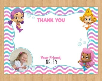 Bubble Guppies 'Thank You' Card with Photo