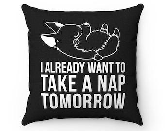 I already want to take a nap tomorrow Corgi Dog Pillow, Throw Pillow Covers, Square Pillow Cases, Dog Lover Cushion Cover, Housewarming gift