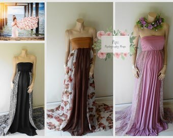 Maternity Maxi Dresses with two-2 meter trains #RTS