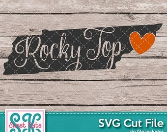 Tennessee Rocky Top SVG dxf EPS png JPG htv Heat Transfer Vinyl Cricut Silhouette Scrapbook Die Cut usa Sweet Kate Designs Instant Download