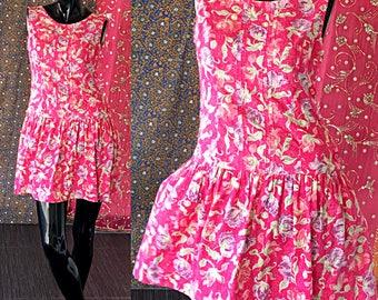 Laura Ashley Dress Floral Party Dress Vintage Laura Ashley Great Britain Dress