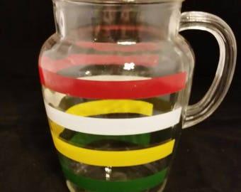 Retro cold beverage pitcher