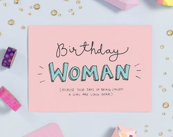 Birthday Woman | Funny Birthday Card