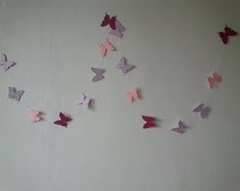 Butterfly paper Garland