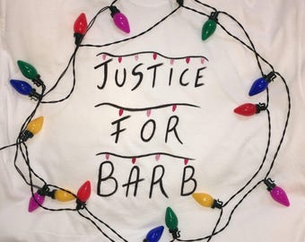 Justice For Barb Stranger Things Tshirt Tee