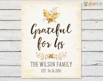 PARENT ANNIVERSARY GIFT, Family Name Print, Family Established Print, Rustic Decor, Housewarming Gift, Farmhouse Decor, Farmhouse Wall Art