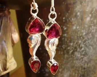 Holiday SALE 85 % OFF Kunzite  Earrings Gemstone  .925 Sterling Silver