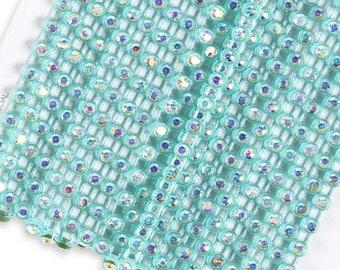 Turquoise blue rhinestone banding SS10