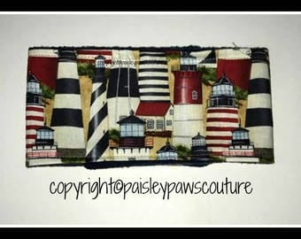 Belly Band for Dogs  Lighthouses  Print  Many Sizes Available   Handmade  Paisley Paws Couture
