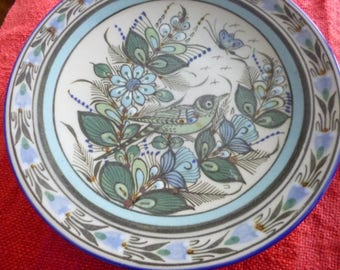8 inch Ken Edwards Plate, hand painted in Mexico.