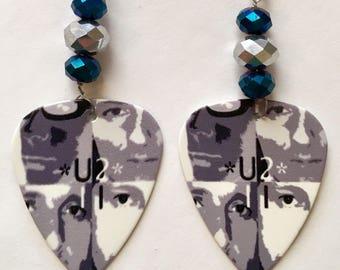 1 Pair-U2 Guitar Pick Earrings