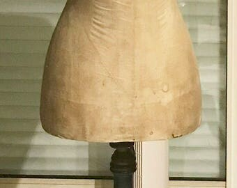 Antique sewing mannequin, WaSP waist, stockman Paris period Napoleon III, shabby