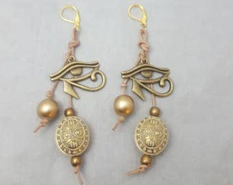 Eye Of Horus Earrings, Dangle Earrings, Afrocentric Jewelry, Afro Earrings