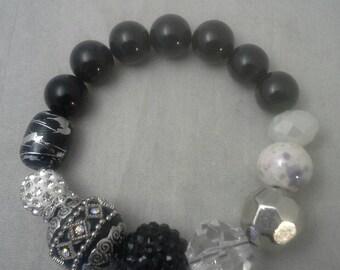 Beaded Bracelet, Stretch Bracelet, Women's Bracelet Gift, Glass Bead BraceletGemstone Bead Bracelet