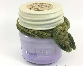 Lavender 10 oz Natural Soy Wax Candle Cotton Wick Vegan Candle