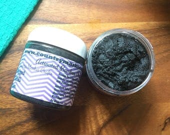 Activated Bamboo Charcoal Whipped Facial Soap - Lemongrass Face Wash Cleanser Stocking Stuffer Christmas Gifts