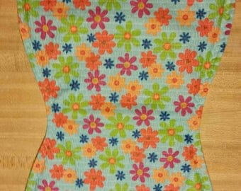 Hippie flowers  Baby burp cloth handmade