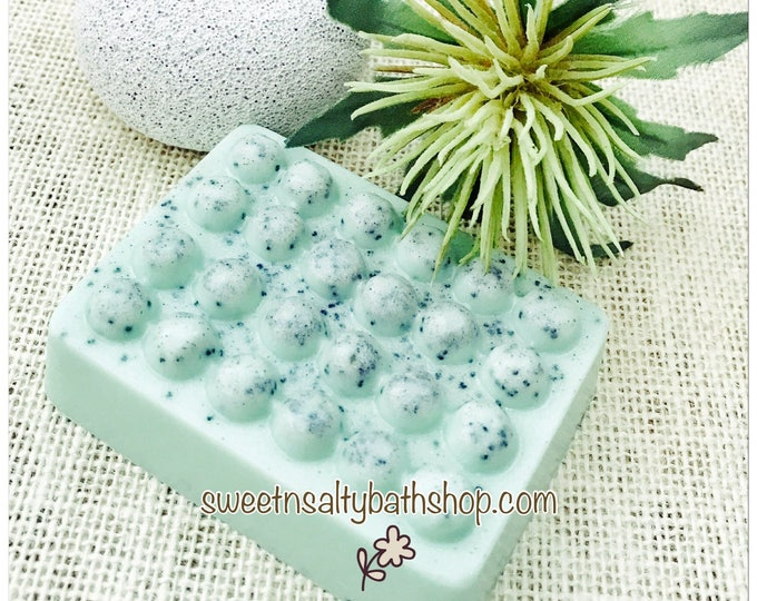 Cucumber Mint Exfoliating Shea Butter and Aloe Vera Soap Scrub