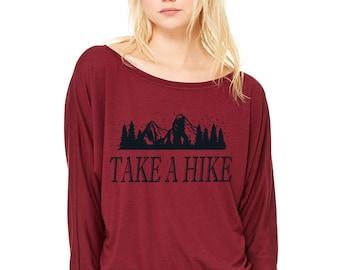 Hiking Shirts, Hiking Tshirt, Camping Shirt, Graphic Tee Womens Tshirt, Mountain T-shirt, Mountain Shirt, Gift for Her, Long Sleeve T shirt