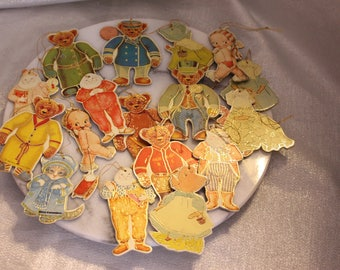 Vintage Set of 17 Kitty Cucumber and Merrimack Publishing Corp Ornaments