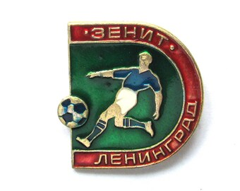 SALE, FC Zenith Leningrad, Football, Sport, Champion, Soviet badge, Vintage collectible badge, Soviet Vintage Pin, USSR, 1980s