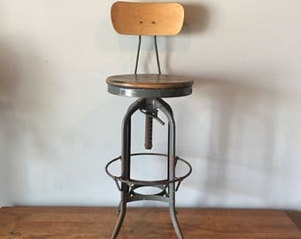 Vintage industrial height adjustable toledo drafting stool 28-33  & Drafting stool | Etsy islam-shia.org