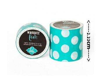 Masking tape / Washi tape fancy - blue and white