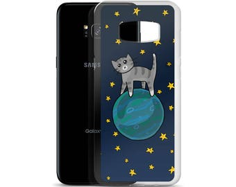Space Cats Case for Samsung S7 S7 Edge S8 S8+, Space Cats Phone Case, Cute Case, Cute Kitties, Cat Lover Gift, Outer Space, Interstellar Cat