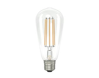 ST64 Large Tear Drop Squirrel Cage LED filament Bulb (E27 FITTING)