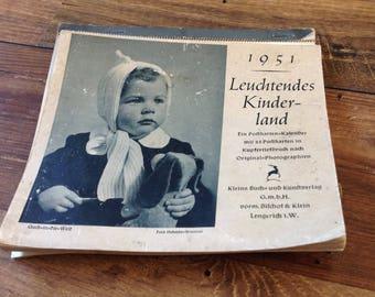 1951 Leuchtendes Kinderland German Calender