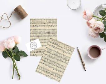 DIY KIT - Vintage sheet music Confetti cones - vintage design x 50 - Wedding Confetti Cones, vintage wedding - DIY bride music wedding