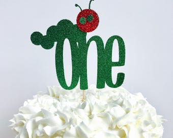 Very Hungry Caterpillar cake topper/ Very Hungry Caterpillar birthday