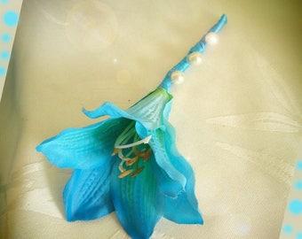 amaryllis artificial customize buttonhole