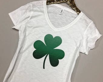 Shamrock Shirt - St Patrick's Day Shirt - St. Patricks Day Shirt Women - Ombre Shamrock Shirt - St. Patrick's Shamrock Shirt - Shamrock Tee