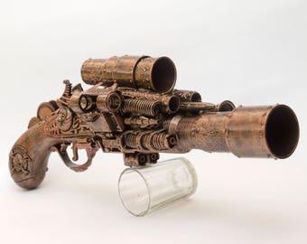 Steampunk gun pistol weapon cosplay costume