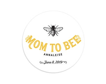 Mom to bee, Mom to bee baby shower, Mom to be, Mom stickers, Bee stickers, Bee label, Bee baby shower decor, Baby bee shower, Honey favors