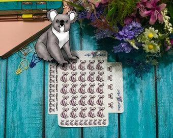 "Hand drawn Cupcake the Koala ""Posing"" Stickers"