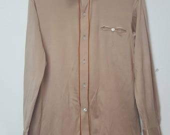 Vintage Ysl long sleeves polo shirt button downs